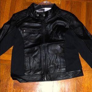 Kardashian kids faux leather jacket